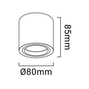 """Mini aro de superfície Orientável """"SENSA"""" GU10"""