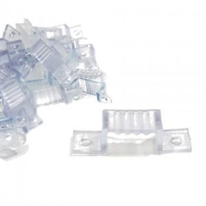 Grampo de fixação para fita LED A 230V-DC 60CH/ML SMD5050 (a cada 25cm)
