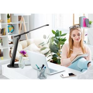 Candeeiro de mesa com USB e sensor de luz 12W CCT dimável