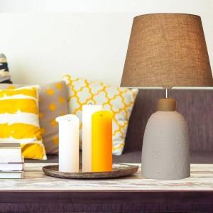 Candeeiro de mesa de cerâmica Rústica E27 max.25W