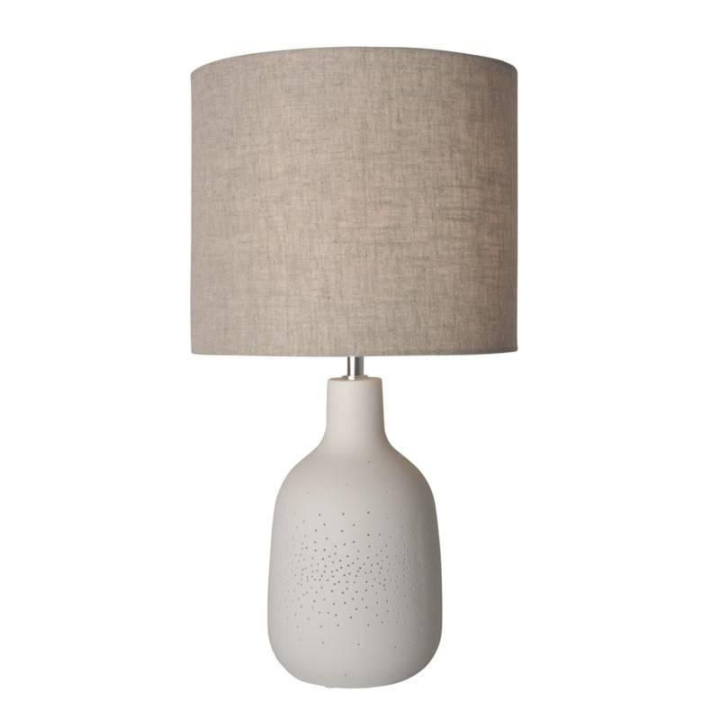 Candeeiro de mesa de cerâmica com luz dupla E27 2x25W