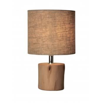 Candeeiro de mesa de madeira minimalista E14