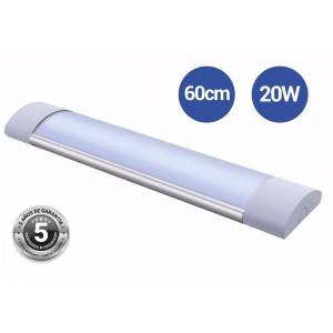 Luminaria linear LED 60cm de alta potência CCT com sensor IP20