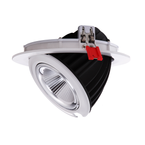 Downlight LED redondo encastrável basculante 48W