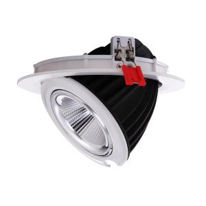 Downlight LED redondo encastrável basculante 48W