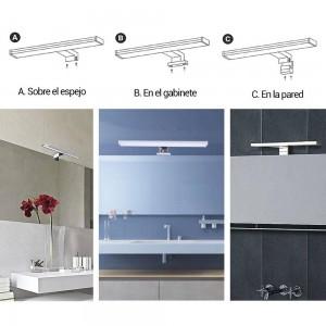 Aplique LED Fixação em espelho, móvel ou parede - 800lm 10W IP44