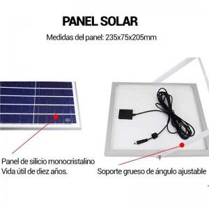 Projetor LED solar 40W com comando IP65