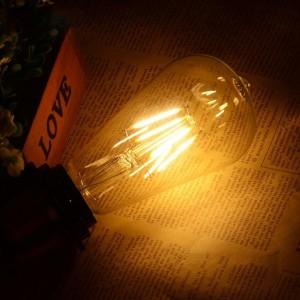 Lâmpada LED Vintage Edison E27 ST64 4W de filamento