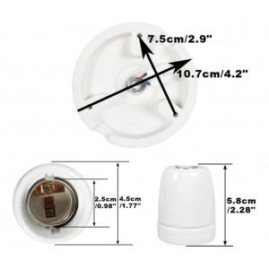 Porta-lâmpadas suspenso de cerâmica E27