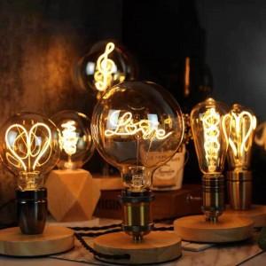 """Lâmpada LED de filamento """"LOVE"""" G125 2,5W E27"""