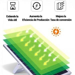Projetor LED solar 60W com comando IP65