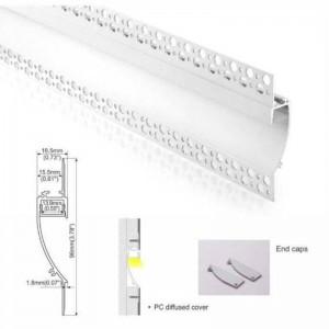 Perfil de Alumínio Integração Parede gesso/ Pladur 18.5X15.5 (2m)