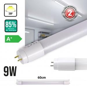 Tubo LED Nano Plástico ABS T8 9W 60cm opalino