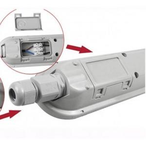 Luminária estanque LED integrado 40W 120cm 5200lm 130 LM/W IP65