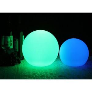 Candeeiro esfera LED 15 cm RGBW  Exterior recarregável