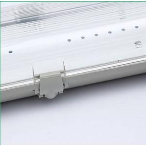 Armadura estanque IP65 para um tubo LED 120cm com conexão de 1 lado
