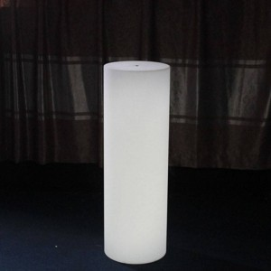 Vaso LED RGBW de Resina Branca 40X115CM 7W IP65 sem fio