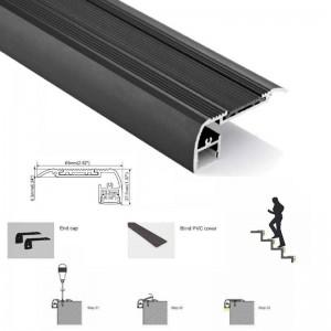 Perfil para fita de LED para escadas 65X27,5 mm (2m)