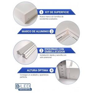 Kit de superfície para painel LED slim 1200x600mm