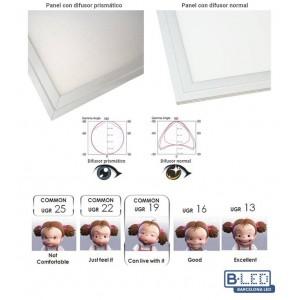 Painel LED encastrável slim 60X60 cm 42W 3300lm moldura branca