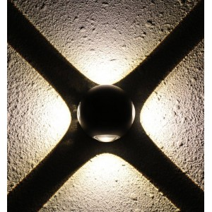 "Aplique de parede LED ""CROSS"" 12W IP44"