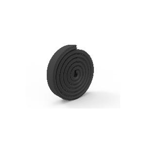 Difusor preto para perfil de integração de gesso / pladur (2m)