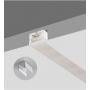 Perfil de silicone flexível de 16x16mm para Fita de LED a néon (5m)