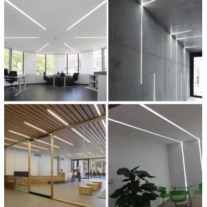 Perfil de alumínio encastrável para parede e teto 36x28mm (2m)