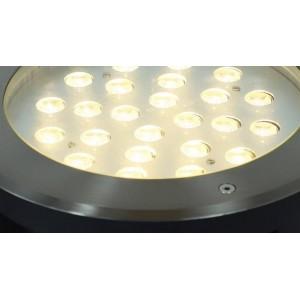 Foco de piso LED encastrável 18W 12V 3000K IP67