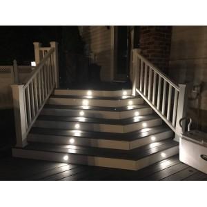 Foco LED encastrável no piso 0,5W 12V-DC IP67