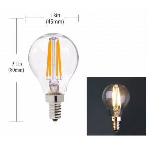 Lâmpada Filamento LED E14 Clear G45 4W