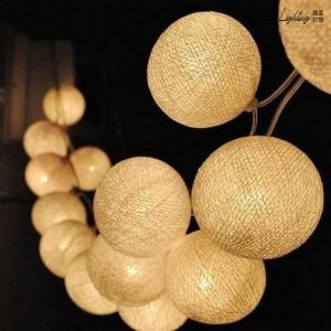 Grinalda LED bola de algodão