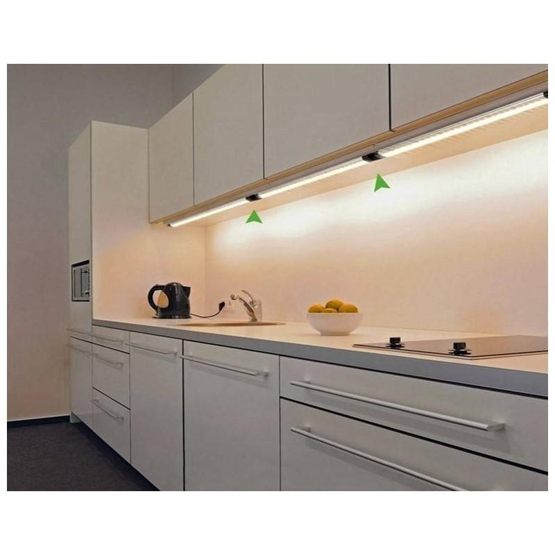 Luminária barra LED regulável com Sensor para armário 12V DC 10,5W 100cm