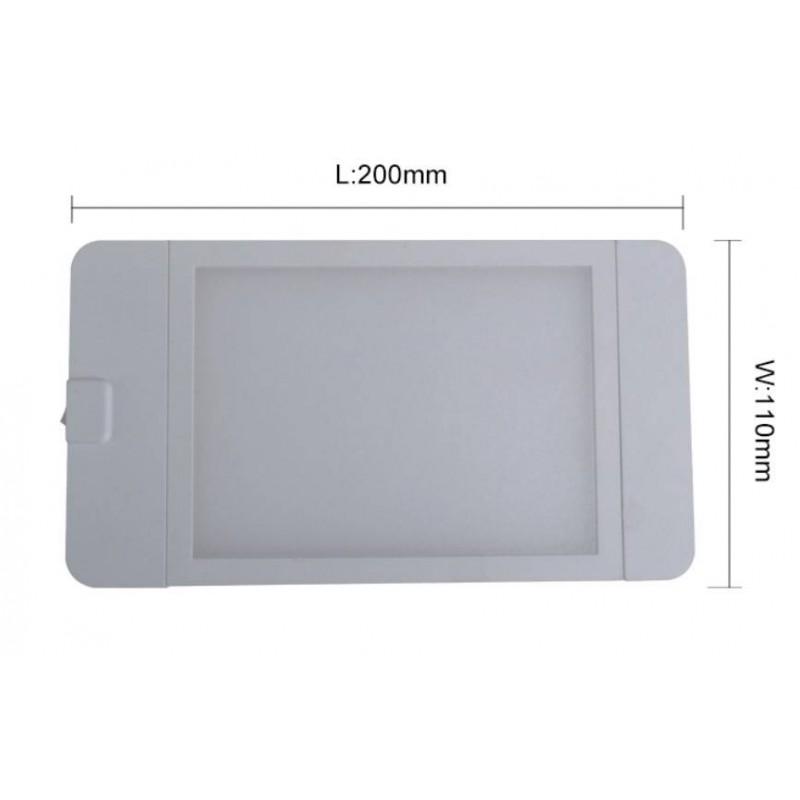 Painel LED 4W de superfície 11x20 cm.
