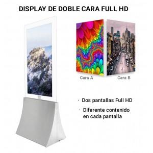 """Painel display Publicitario 43"""" duplo lado LCD"""