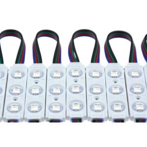 Cadeia de 20 módulos LED RGB para sinalização de 0,72 W 12V-DC IP67