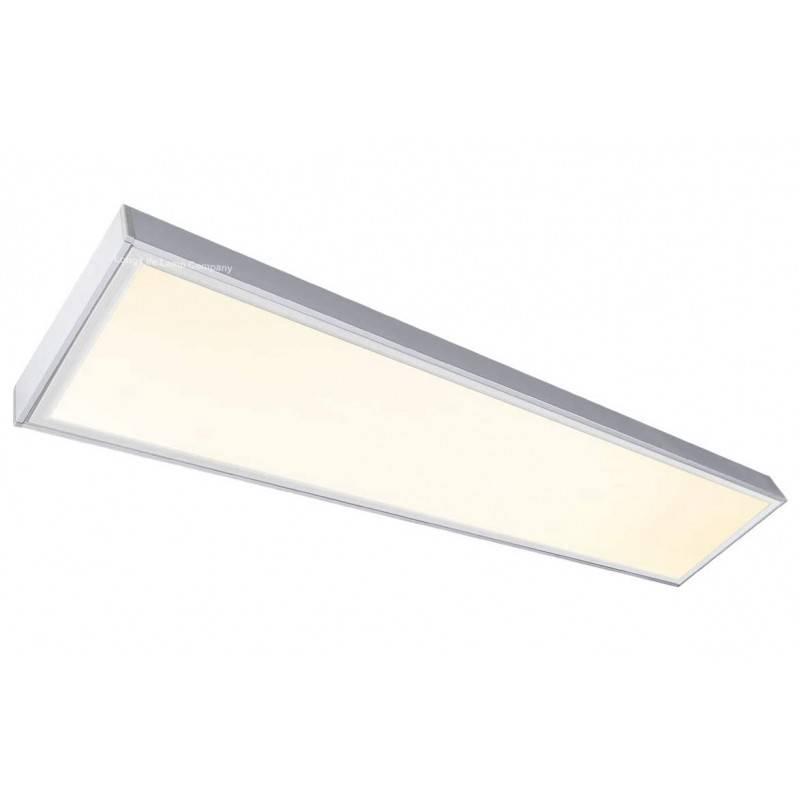 Painel LED com kit de superfície 120x30cm - branco quente