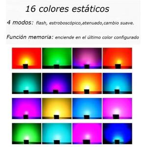 Foco projetor LED RGB de 50W IP65