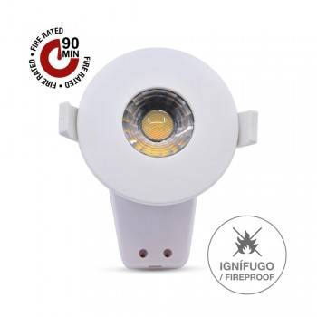 Downlight LED Ignífugo 8W com regulador de luz (3CCT)