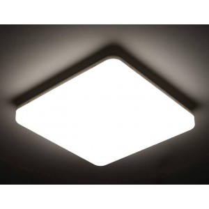 Plafón LED quadrado de superfície 2640LM 24W IP54 estanque