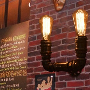 """Aplique de parede vintage tubos """"COPPER"""""""