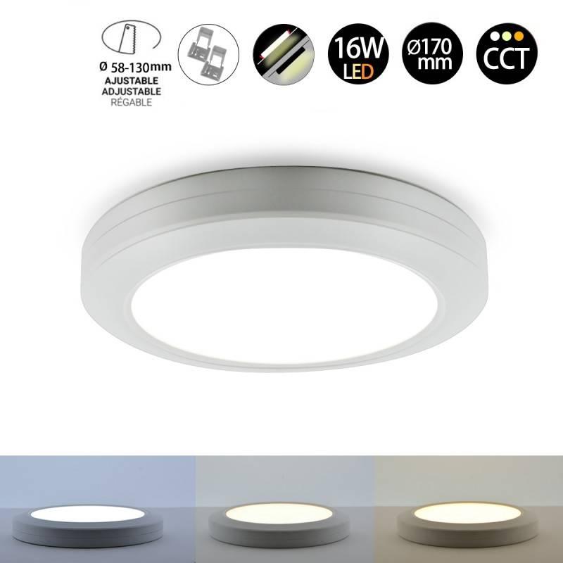 Plafon Downlight LED Multifuncional CCT 16W