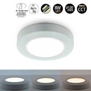 Plafón Downlight de LED Multifuncional CCT 8W IP20