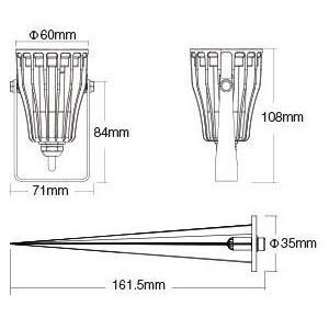 Foco LED com estaca para jardim 6W RGB + CCT | Mi Light
