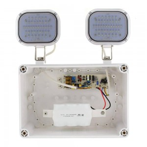 Luz de Emergencia LED Industrial dupla 2x6W IP65