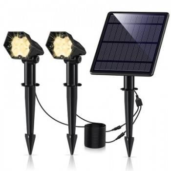 Foco Solar Exterior Dupla 3W IP65