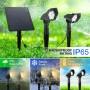 Foco Solar duplo para exterior LED 3W IP65