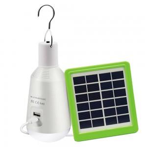 Lâmpada LED multifunções com painel solar 7W 8000ºK