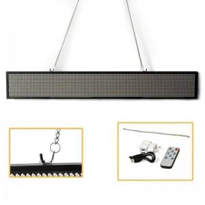 Letreiro LED programável de cor única 1000x80mm USB