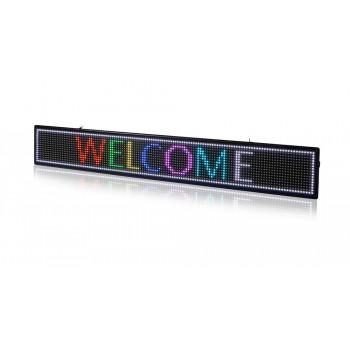 Letreiro display LED P7 RGB WIFI/USB 1000x150mm